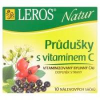 Leros Natur Průdušky s vitamínem C bylinný ča...