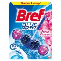 Bref Blue Aktiv Fresh Flowers tuhý WC blok 50g