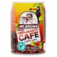 Mr. Brown 100'% arabica caffé latte 240ml