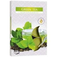 Aura čajová vonná svíčka Zelený čaj 6ks