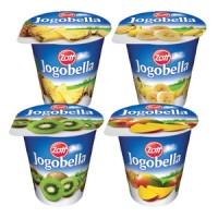 Zott Jogobella Jogurt Exotic 2,8% (ananas+kiwi+ban...