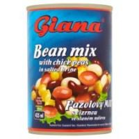 Giana Fazolový mix s cizrnou ve slaném nálevu 4...