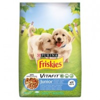 Friskies pro štěňata s kuřetem, přidaným ml�...