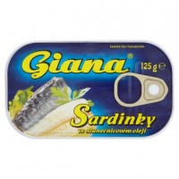 Giana Sardinky ve slunečnicovém oleji 125g