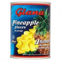 Giana Ananas kousky ve sladkém nálevu 565g