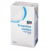 ARO Mléko polotučné 1,5% trvanlivé chlaz. 1L