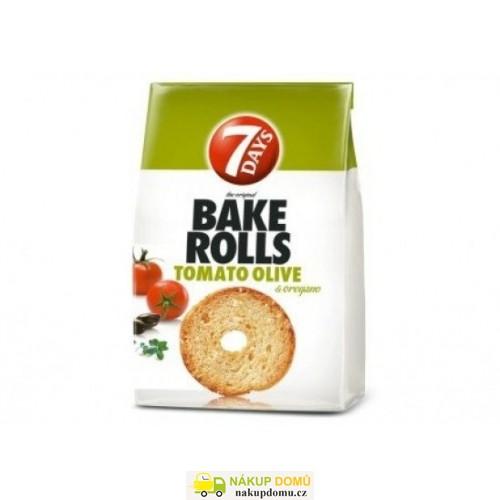 7 Days Bake Rolls Chlebové chipsy s příchutí rajčat, oliv a oregana 80g