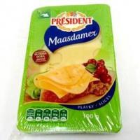 Président Maasdamer sýr 45% plátky chlaz. 100g