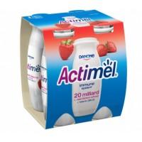Danone Actimel jogurtový nápoj jahodový 4 x 100...