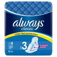 Always Classic Night dámské vložky 8ks
