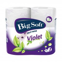 Big soft violet toaletni papir 4ks