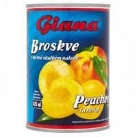 Giana Broskve v mírně sladkém nálevu 410g