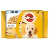 Pedigree Junior Kuřecí a krůtí maso ve šťáv...
