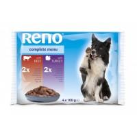 Reno Kompletní krmivo pro dospělé psy 4x100g