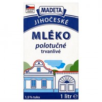 Madeta Jihočeské mléko polotučné trvanlivé 1...