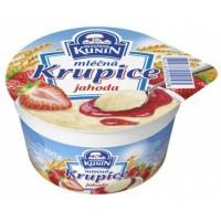 Mlékárna Kunín Mléčná krupice jahodová 150g