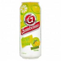 Gambrinus Řízný citrón, plech 0,5l