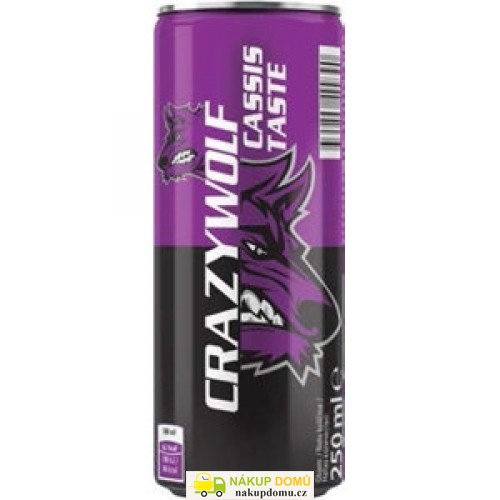 Crazy Wolf Energy Drink Cassis Taste  250ml
