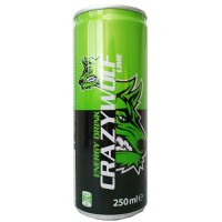 Crazy Wolf Energetický nápoj lime taste 250 ml