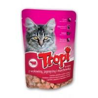 Tropi kapsička pro kočky s hovězím/jehněčím...