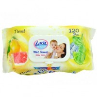 Lara vlhčené ubrousky lemon+grapefruit 120ks