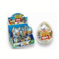 ARAS vajíčka plastové eggo toys +lentilky 10g