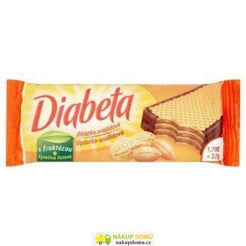 Diabeta oplatky polomáč arašídy 32g