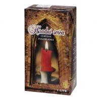 Hradní svíca červená 1l
