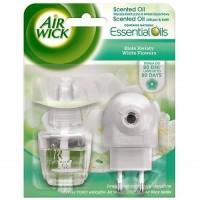 Air Wick komplet elektrický white flowers 19ML