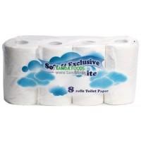 Soft&Exclusive Toaletní papír bílý 2V 8ks
