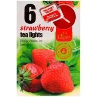 Tea Lights Svíčky Strawberry&Peace 6ks