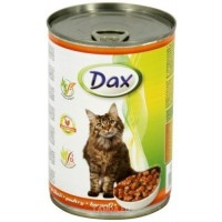 Dax konzerva pro kočky drůbeží 415g