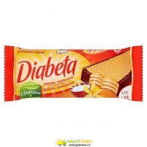 Diabeta oplatky polomáčené smetana a vanilka 32g